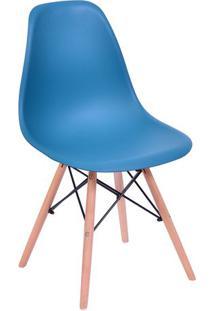 Cadeira Eames Dkr- Azul Petróleo & Madeira Clara- 80Or Design