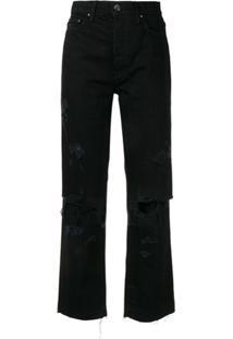 Amiri Calça Jeans Com Joelho Rasgado - Preto