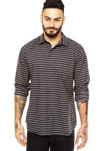 Camisa Quiksilver Quik Stripes Preta
