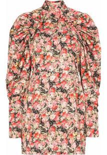 Rotate Vestido Floral Kim - Vermelho