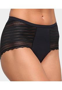 Calcinha Hot Panty Liz Streamline 80913 - Feminino-Preto