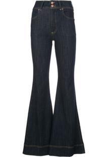 Alice+Olivia Calça Jeans Flare - Azul