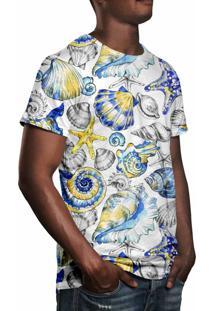 Camiseta Estampada Over Fame Fundo Do Mar Vintage