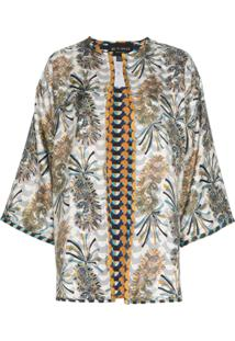 Etro Jaqueta Kimono Dupla-Face Com Estampa Geométrica - 990