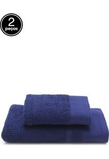 Jogo De Banho 2 Pã§S Buddemeyer London Azul 70 X 135 - Azul - Dafiti