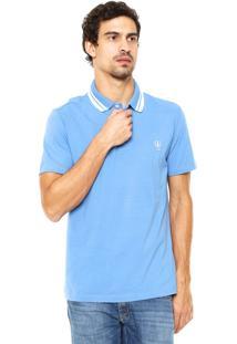 Camisa Polo Coca-Cola Jeans Reta Azul