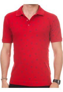 Camisa Pau A Pique Polo Masculina - Masculino-Vermelho