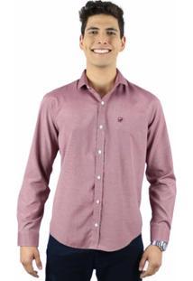 Camisa Norfolk Com Padronagem De Micro Listras - Masculino