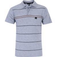 9e0d1a7ed7 Camisa Polo Hd Simple Stripes - Masculina - Cinza Claro