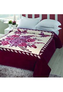 6f11e65bce Cobertor Casal Microfibra 1 Peça Kyor Melides Jolitex Vinho