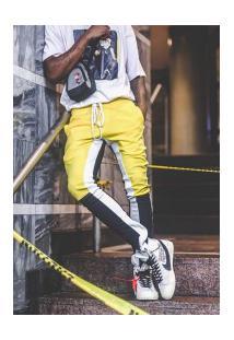 Calça Masculina Swag Trasher 3 Cores - Amarelo E Preto