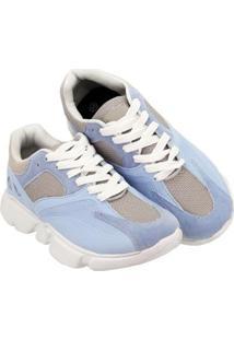 Tênis Selten Dad Sneaker Chunky Feminino - Feminino-Azul Claro