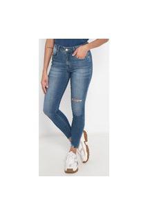 Calça Jeans Skinny Rasgos