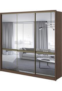 Guarda-Roupa Urban Com Espelho - 3 Portas - 100% Mdf - Imbuia Naturale