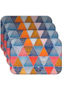 Jogo Americano - Love Decor Geometric Abstract Mandalas Kit Com 4 Peças