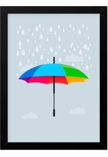 Quadro Adoraria A3 Umbrella Multicolorido