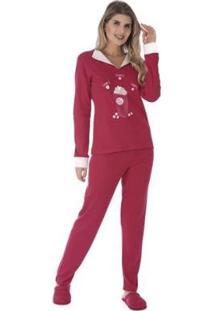 Pijama Inverno Charme Victory Feminino - Feminino-Pink