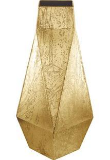 Vaso Geométrico- Dourado- 47X18X17,5Cm- Martmart