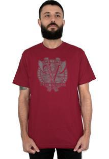 Camiseta Bleed American Axes Vinho