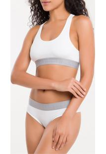 Sutia Top Racerback Cotton - Branco 2 - S