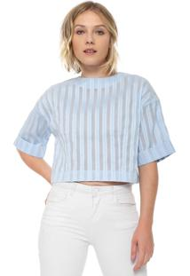Blusa Finery London Canvey Striped Azul