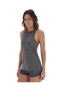 Camiseta Regata Oxer Ice - Feminina - Cinza Escuro