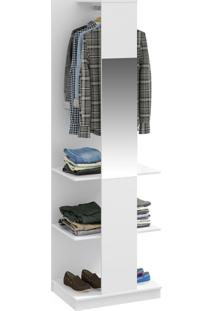 Closet Tog 2 Prateleiras 1 Cabide Com Espelho Branco Tx - Bentec