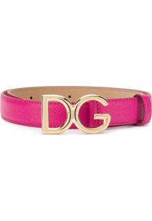 Dolce & Gabbana Cinto Com Logo 'Dg' - Rosa