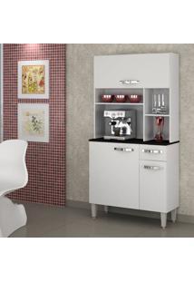 Armário De Cozinha 3 Portas Jaspe Sallêto Móveis Branco