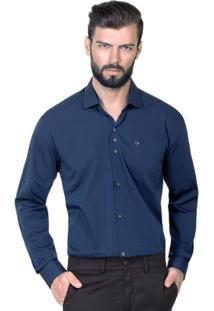 Camisa Hugo Rossi Maquinetado Azul - Masculino