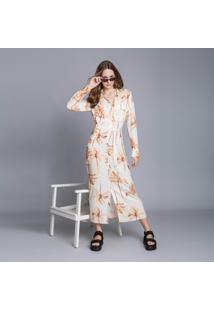 Vestido Chemise Manga Longa Mídi Long Beach - Lez A Lez