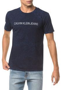 Camiseta Ckj Mc Indigo Est - Indigo - Pp