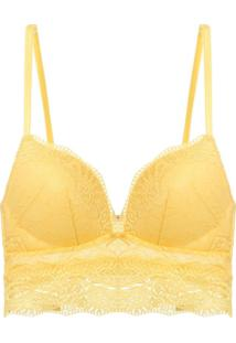Sutiã Top Bojo Renda Love Lace Amarelo