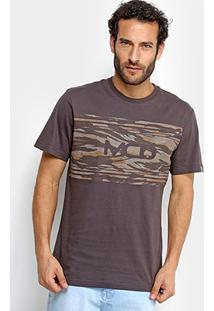 Camiseta Mcd Camouflage Masculina - Masculino-Marrom