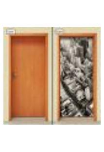 Adesivo Decorativo De Porta - Cidade - Prédios - 1234Cnpt