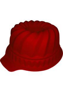 Forma De Silicone Com Furo 29X24X11 Cm Espiral Vermelha