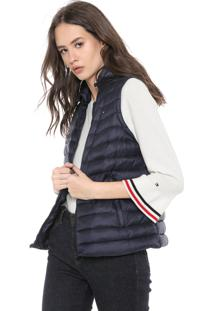 Colete Puffer Tommy Hilfiger Bella Ess Lw Dwn Packable Vest Azul-Marinho