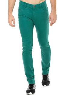 Calça Jeans Denuncia Skinny Masculina - Masculino-Verde
