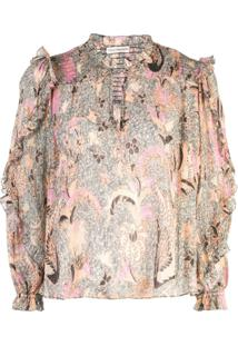 Ulla Johnson Blusa Floral - Neutro