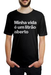 Camiseta Hunter Litrão Preta
