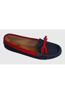 Sapatilha Mocassim Costurado À Mão Varejo E Atacado Feminina - Feminino-Jeans