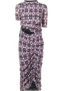 Y/Project Vestido Com Padronagem De Losangos - Roxo