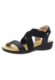 Sandália Anabela Doctor Shoes 112 Preta