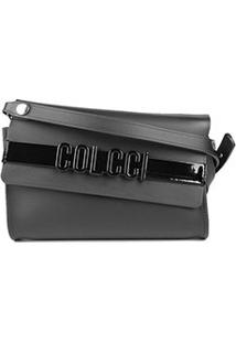 Bolsa Colcci Mini Bag Firenze Relevo Feminina - Feminino-Preto