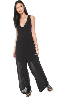 faf2ce0df5 Macacão Decote V Pantalona feminino