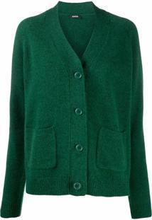 Aspesi Blusa De Tricô E Lã Com Botões - Verde