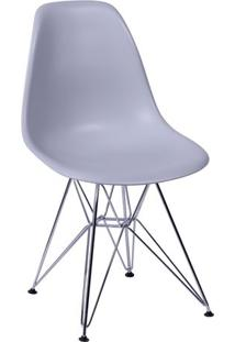 Cadeira Eames Dkr- Cinza & Prateada- 80,5X46X42Cm