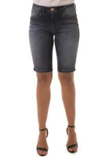 Bermuda Jeans Osmoze Middle Plus Mid Rise Feminina - Feminino