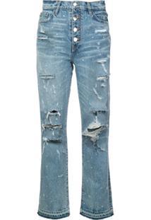 Amiri Calça Jeans Reta - Azul