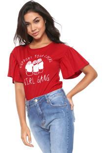 Camiseta Lunender Empoderamento Vermelha